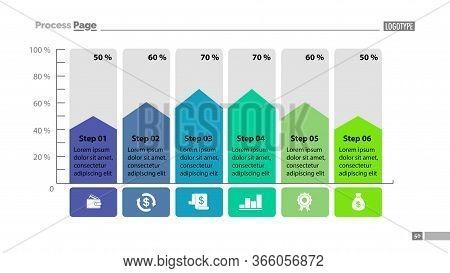 Six Steps Percentage Process Chart Design. Element Of Chart, Graph, Diagram. Concept For Presentatio