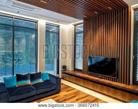 Modern living room tv wall