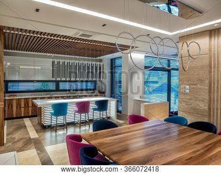 Modern interior of dinning room