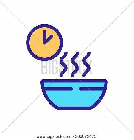 Waiting Time Cooking Porridge Icon Vector. Waiting Time Cooking Porridge Sign. Color Symbol Illustra
