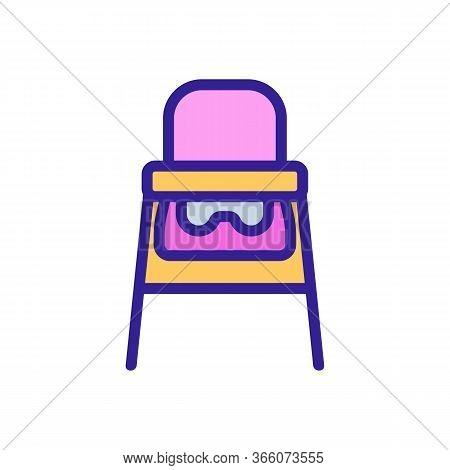 Travel Highchair Icon Vector. Travel Highchair Sign. Color Symbol Illustration