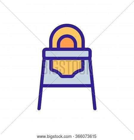 Transformer Feeding Chair With Rounded Back Icon Vector. Transformer Feeding Chair With Rounded Back