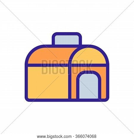 Semicircular Portable Doghouse Icon Vector. Semicircular Portable Doghouse Sign. Color Symbol Illust