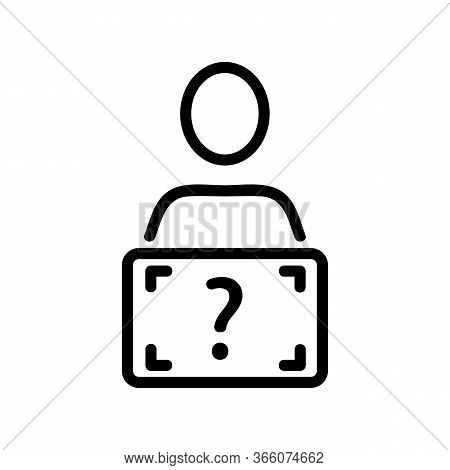 Human Diagnostics Scanner Icon Vector. Human Diagnostics Scanner Sign. Isolated Contour Symbol Illus
