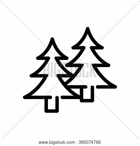 Coniferous Forest Icon Vector. Coniferous Forest Sign. Isolated Contour Symbol Illustration