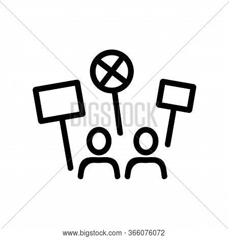 Sound Strike People Icon Vector. Sound Strike People Sign. Isolated Contour Symbol Illustration