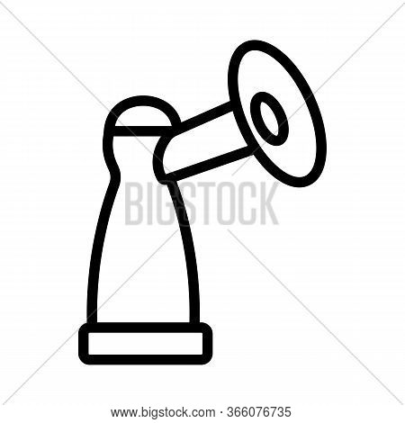 Piston Bottle With Suction Cup Icon Vector. Piston Bottle With Suction Cup Sign. Isolated Contour Sy