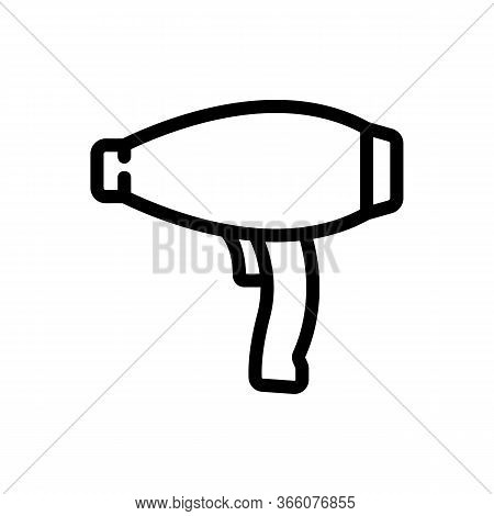 Cylindrical Hair Dryer With Round Handle Icon Vector. Cylindrical Hair Dryer With Round Handle Sign.