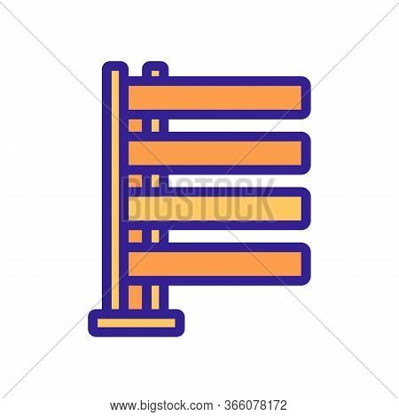 Heated Ladder Icon Vector. Heated Ladder Sign. Color Symbol Illustration