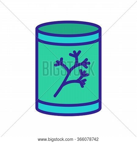 Can Of Dill Icon Vector. Can Of Dill Sign. Color Symbol Illustration