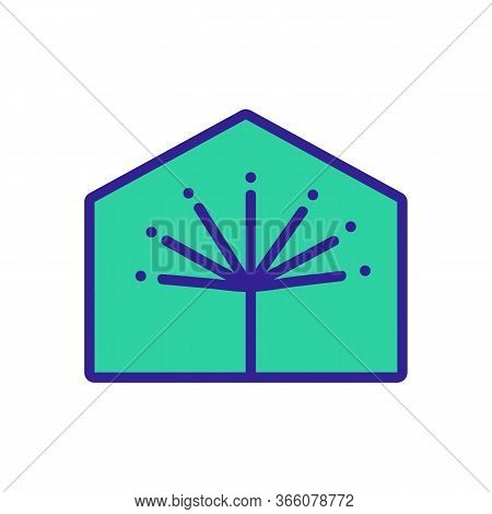 Dill Growing In Greenhouse Icon Vector. Dill Growing In Greenhouse Sign. Color Symbol Illustration