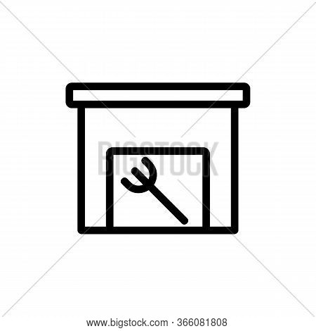 Home Hangar For Household Icon Vector. Home Hangar For Household Sign. Isolated Contour Symbol Illus