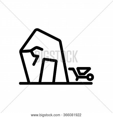 Triangular Roof Shed Icon Vector. Triangular Roof Shed Sign. Isolated Contour Symbol Illustration