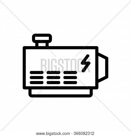 Electric Stable Alternator Icon Vector. Electric Stable Alternator Sign. Isolated Contour Symbol Ill