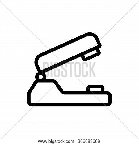 Paper Hole Punch Icon Vector. Paper Hole Punch Sign. Isolated Contour Symbol Illustration