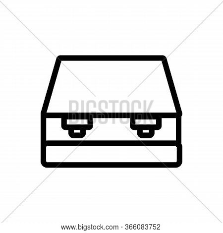 Closed Hole Punch Icon Vector. Closed Hole Punch Sign. Isolated Contour Symbol Illustration