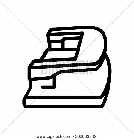 Hole Punch With Handle And Knife Icon Vector. Hole Punch With Handle And Knife Sign. Isolated Contou