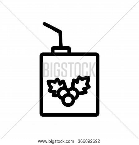 Packaged Hawthorn Juice With Straw Icon Vector. Packaged Hawthorn Juice With Straw Sign. Isolated Co