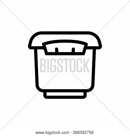 Tightly Closed Storage Container Icon Vector. Tightly Closed Storage Container Sign. Isolated Contou