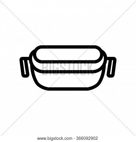 Food Container With Handles Icon Vector. Food Container With Handles Sign. Isolated Contour Symbol I
