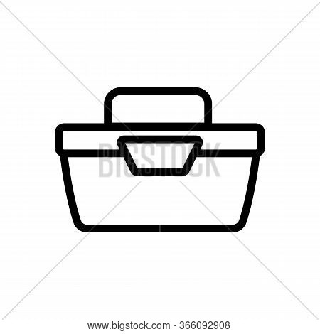 Portable Food Container Side View Icon Vector. Portable Food Container Side View Sign. Isolated Cont