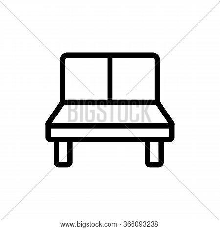 Lounge Sofa Icon Vector. Lounge Sofa Sign. Isolated Contour Symbol Illustration