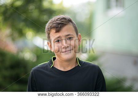 Boy Teen Shows Face Of Bewilderment. Bewilderment. Boy. Teenager. Surprise. Boy's Portrait.