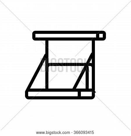 Swing Sofa Icon Vector. Swing Sofa Sign. Isolated Contour Symbol Illustration