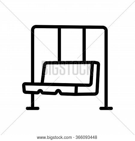 Hanging Swing In Form Of Sofa Icon Vector. Hanging Swing In Form Of Sofa Sign. Isolated Contour Symb