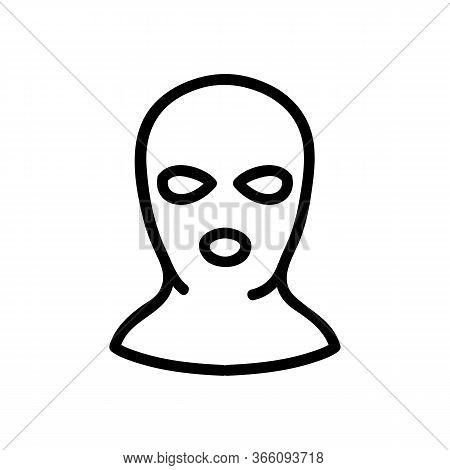 Balaclava Per Person Icon Vector. Balaclava Per Person Sign. Isolated Contour Symbol Illustration