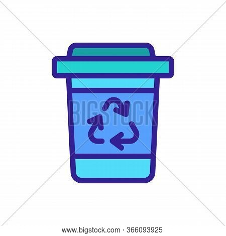 Garbage Disposal Icon Vector. Garbage Disposal Sign. Color Symbol Illustration