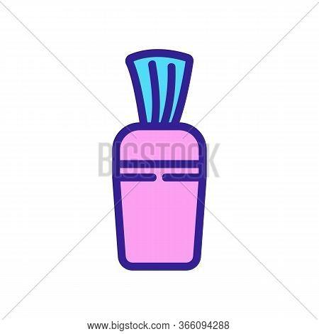 Horizontal Napkin Holder Icon Vector. Horizontal Napkin Holder Sign. Color Symbol Illustration