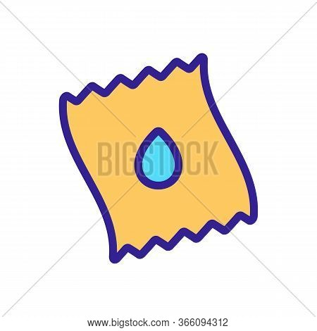 Piece Of Wet Wipe Icon Vector. Piece Of Wet Wipe Sign. Color Symbol Illustration
