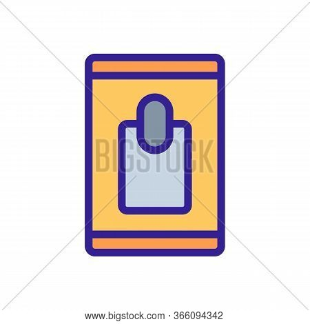 Closed Pack Of Wet Wipes Icon Vector. Closed Pack Of Wet Wipes Sign. Color Symbol Illustration