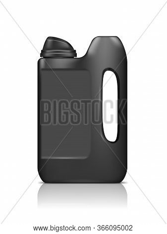 Realistic Black Jerry Can Mockup Isolated On White Background