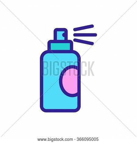 Spray For Water Resistance Icon Vector. Spray For Water Resistance Sign. Color Symbol Illustration