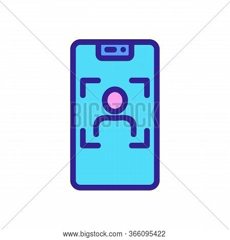 Focus On Person Icon Vector. Focus On Person Sign. Color Symbol Illustration