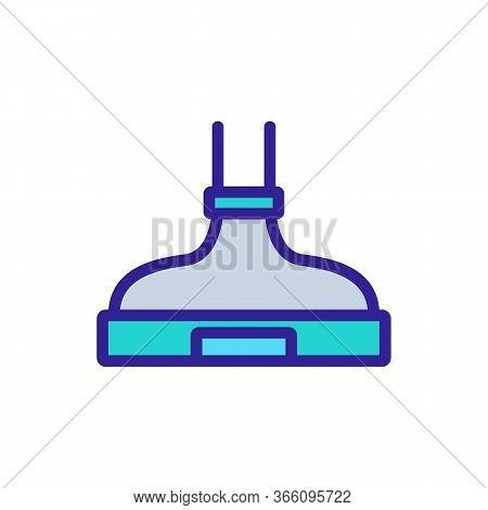 Built-in Practical Cooker Hood Icon Vector. Built-in Practical Cooker Hood Sign. Color Symbol Illust