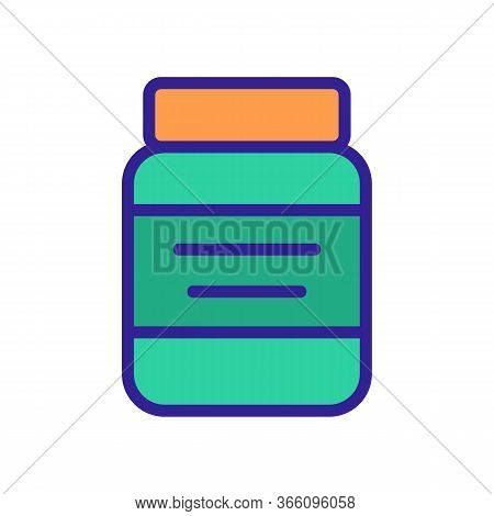 Canned Jar With Wide Lid Icon Vector. Canned Jar With Wide Lid Sign. Color Symbol Illustration