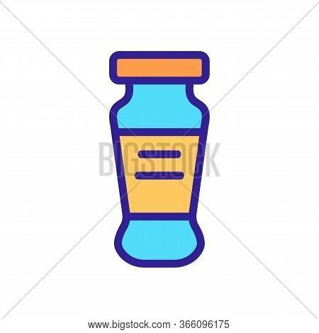 Long Pickling Jar Icon Vector. Long Pickling Jar Sign. Color Symbol Illustration