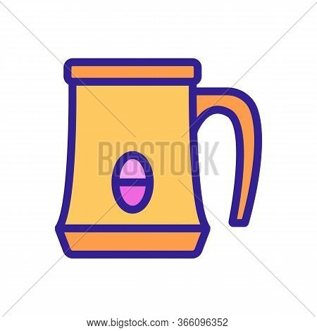 Automatic Jugs Of Various Volumes With Possibility Of Heating And Whipping Icon Vector. Color Symbol