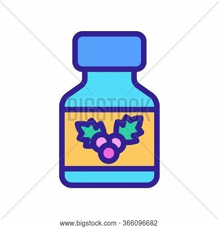 Medical Bottle Of Hawthorn Tincture Icon Vector. Medical Bottle Of Hawthorn Tincture Sign. Color Sym