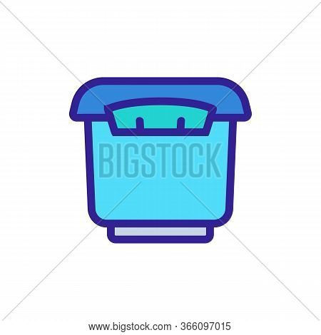 Tightly Closed Storage Container Icon Vector. Tightly Closed Storage Container Sign. Color Symbol Il