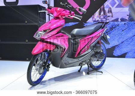 Pasay, Ph - Mar 24 - Suzuki Skydrive Sport Motorcycle At Inside Racing Motor Bike Festival And Trade