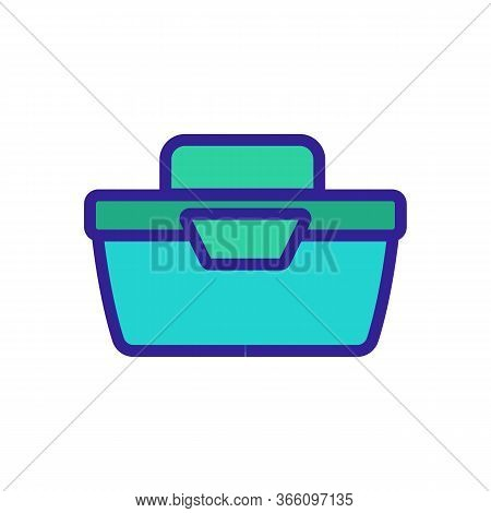 Portable Food Container Side View Icon Vector. Portable Food Container Side View Sign. Color Symbol