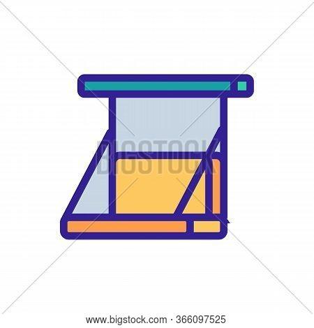 Swing Sofa Icon Vector. Swing Sofa Sign. Color Symbol Illustration