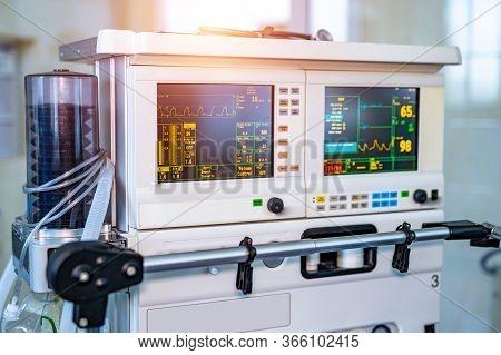 Part Of Equipment For Mechanical Ventilation Equipment. Pneumonia Diagnosting. Ventilation Of The Lu