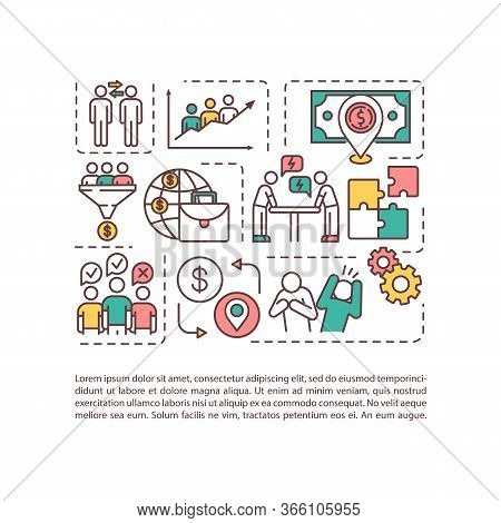 Challenge And Benefit Of Multiculturalism Concept Icon With Text. Multi Racial Team Work Productivit