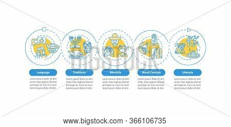 Multiculturalism Vector Infographic Template. Multi Ethnic Lifestyle Presentation Design Elements. D