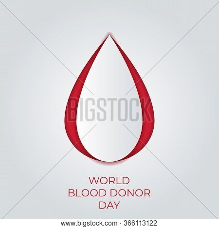 Paper Art Blood Donateor Publicize To The Public To Join Blood Donor For Poster, Banner, Card And Ba